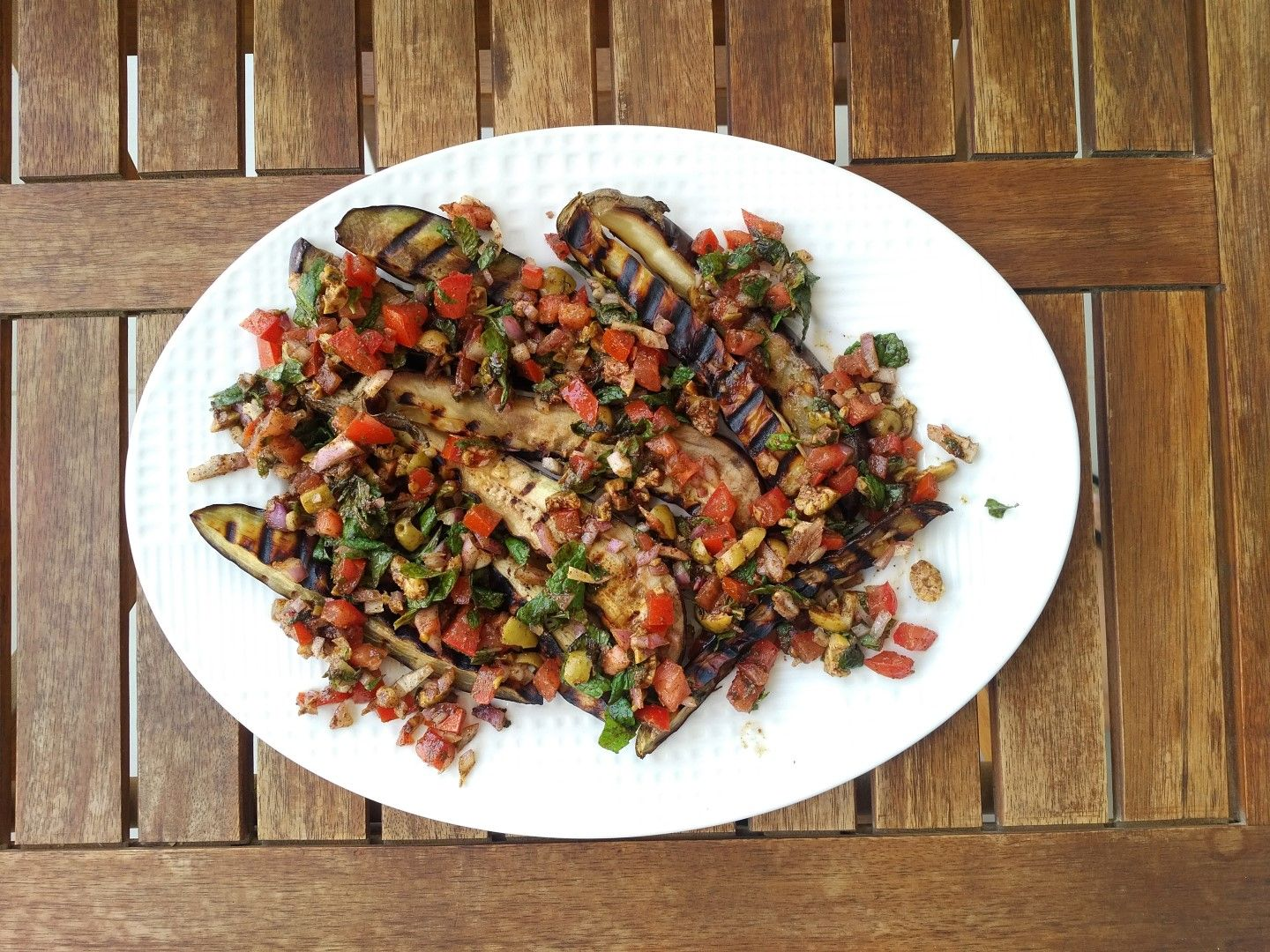 Moroccan Style Aubergines